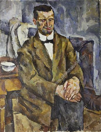 Portrait of the sculptor P. Bromirsky, 1919 by Pyotr Konchalovsky (1876-1956, Russia)
