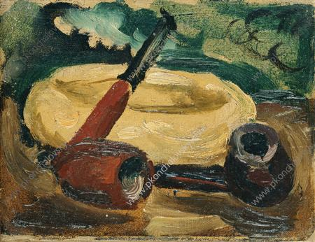 Still Life. Pipes., 1931 by Pyotr Konchalovsky (1876-1956, Russia)