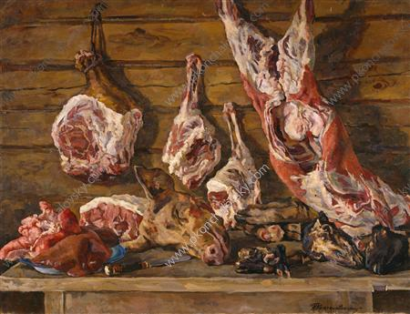 Still Life. The meat., 1936 by Pyotr Konchalovsky (1876-1956, Russia) | Museum Quality Reproductions | ArtsDot.com