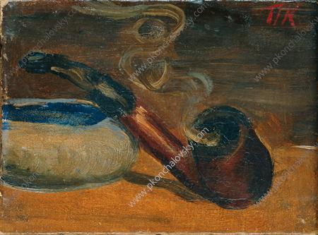 Still Life. Pipe with smoke., 1929 by Pyotr Konchalovsky (1876-1956, Russia)