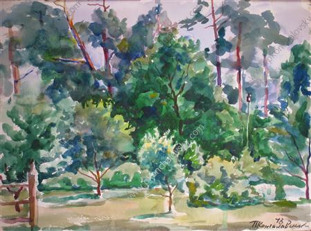 Mounds. The park., 1948 by Pyotr Konchalovsky (1876-1956, Russia) | ArtsDot.com