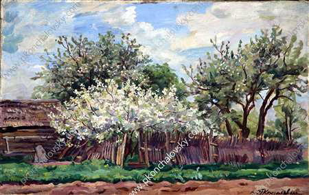 Garden in bloom, 1932 by Pyotr Konchalovsky (1876-1956, Russia) | ArtsDot.com