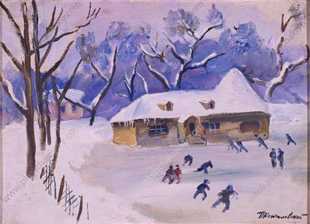 Little House on the rink, 1931 by Pyotr Konchalovsky (1876-1956, Russia)