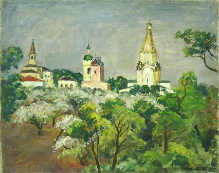 Kolomenskoye. After the rain., 1930 by Pyotr Konchalovsky (1876-1956, Russia) | Museum Quality Reproductions | ArtsDot.com