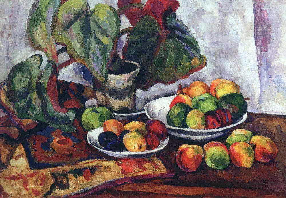 Still Life with Begonia, 1916 by Pyotr Konchalovsky (1876-1956, Russia) | Museum Quality Reproductions | ArtsDot.com