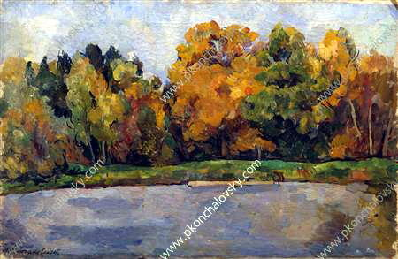 Pond, 1921 by Pyotr Konchalovsky (1876-1956, Russia) | Art Reproduction | ArtsDot.com