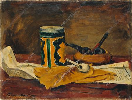 Still Life. Tobacco leaves., 1929 by Pyotr Konchalovsky (1876-1956, Russia)