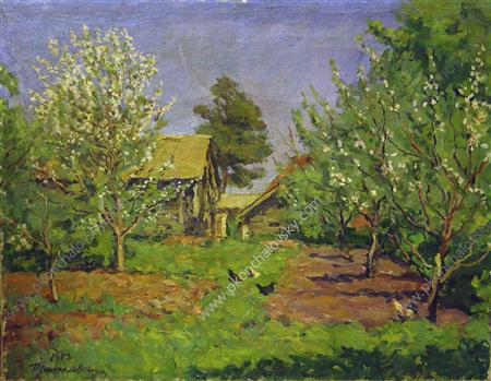 Blossoming garden, 1953 by Pyotr Konchalovsky (1876-1956, Russia)