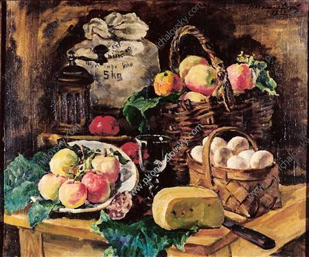 Still Life with a fly. Every victuals., 1932 by Pyotr Konchalovsky (1876-1956, Russia) | Painting Copy | ArtsDot.com