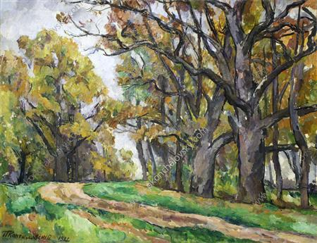 Autumn road, 1921 by Pyotr Konchalovsky (1876-1956, Russia)