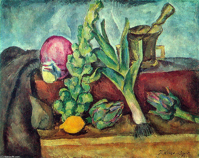 Still Life. Vegetables., 1916 by Pyotr Konchalovsky (1876-1956, Russia)