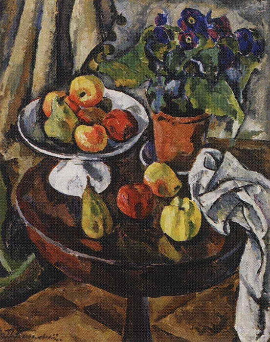 Fruit-piece, 1911 by Pyotr Konchalovsky (1876-1956, Russia)
