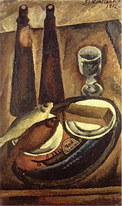 Pyotr Konchalovsky - Still Life. Beer and roach.