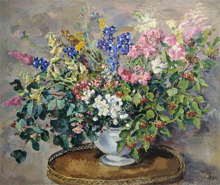Bouquet of flowers, 1932 by Pyotr Konchalovsky (1876-1956, Russia) | Art Reproduction | ArtsDot.com