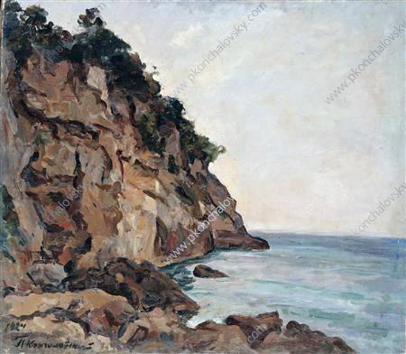 Rocks in Sorrento, 1924 by Pyotr Konchalovsky (1876-1956, Russia)