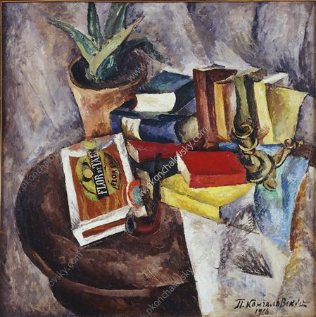 Still Life. Box of cigars., 1916 by Pyotr Konchalovsky (1876-1956, Russia)