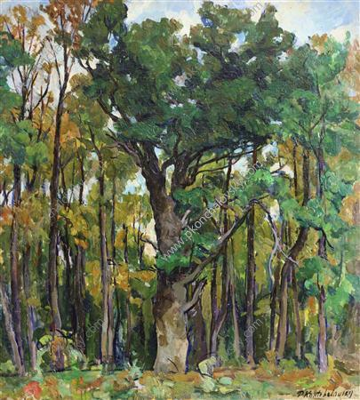 Oaks in the park, 1922 by Pyotr Konchalovsky (1876-1956, Russia)