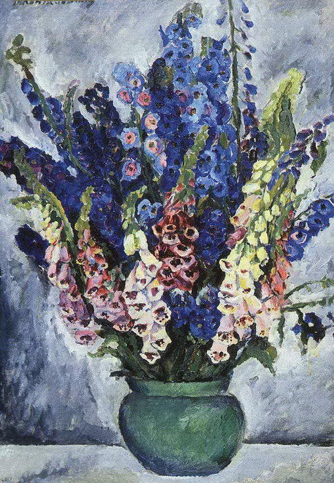 Digitalis, 1915 by Pyotr Konchalovsky (1876-1956, Russia)
