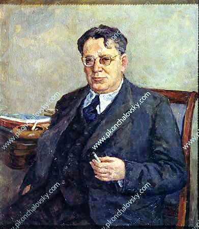 Portrait of writer Samuil Marshak, 1951 by Pyotr Konchalovsky (1876-1956, Russia)