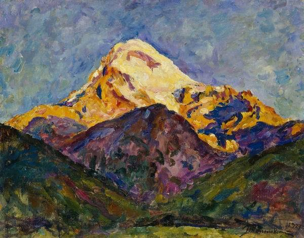 Kazbek. Early morning (5:00 am)., 1927 by Pyotr Konchalovsky (1876-1956, Russia)