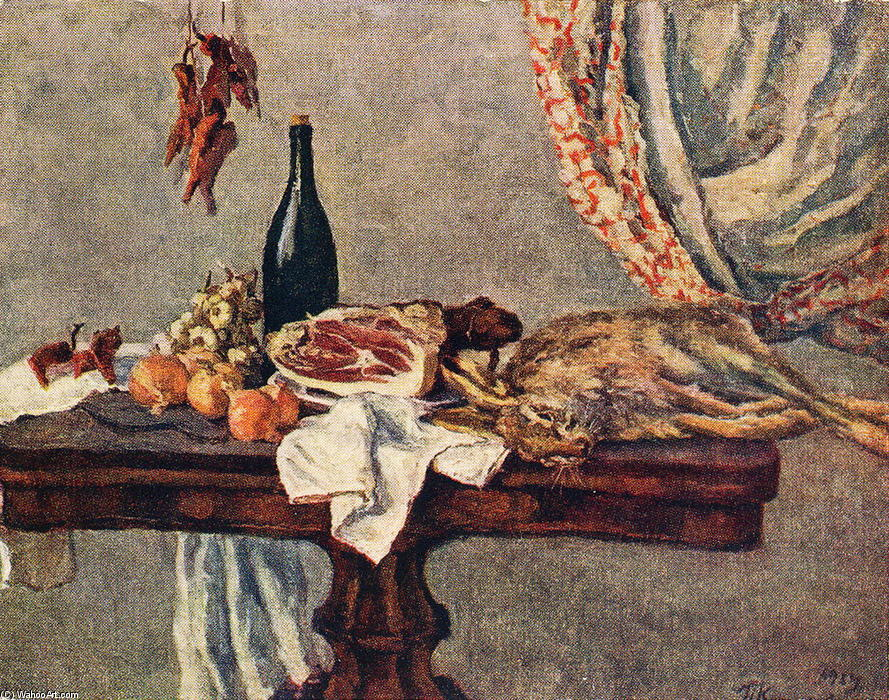Still life with rabbit, 1954 by Pyotr Konchalovsky (1876-1956, Russia) | Art Reproduction | ArtsDot.com