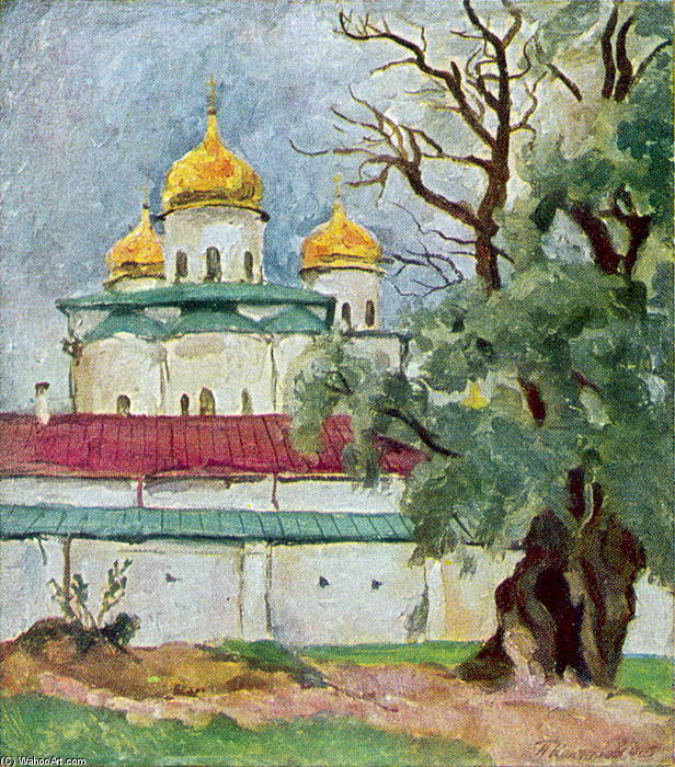 Cathedral of St. George in Novgorod by Pyotr Konchalovsky (1876-1956, Russia)