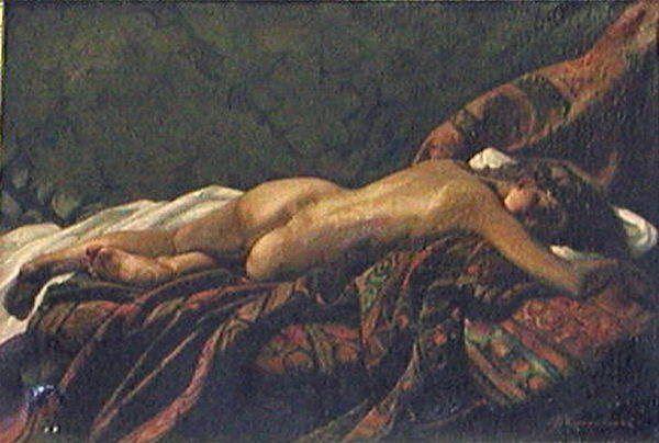 Female nude by Pyotr Konchalovsky (1876-1956, Russia) | Art Reproduction | ArtsDot.com
