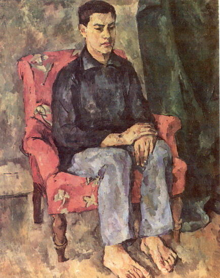 Portrait of a son by Pyotr Konchalovsky (1876-1956, Russia)