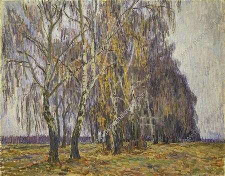 Belkino. Birches., 1907 by Pyotr Konchalovsky (1876-1956, Russia)