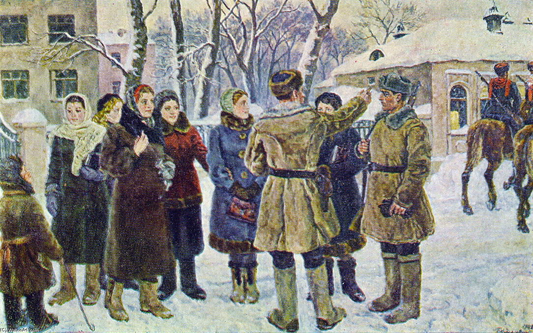 Order Art Reproduction : Where to give blood here?, 1942 by Pyotr Konchalovsky (1876-1956, Russia) | ArtsDot.com