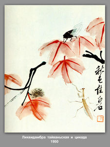 Qi Baishi - Likvidambra Taiwan and th..