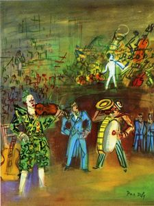 Raoul Dufy - Clowns and Musicians