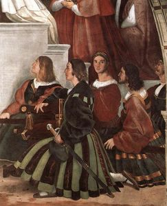 Raphael (Raffaello Sanzio Da Urbino) - The Mass at Bolsena (detail)