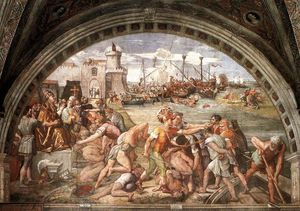 Raphael (Raffaello Sanzio Da Urbino) - The Battle of Ostia