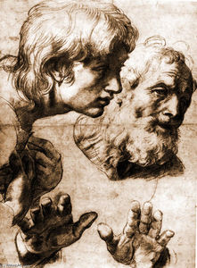 Raphael (Raffaello Sanzio Da Urbino) - Studies for the Transfiguration