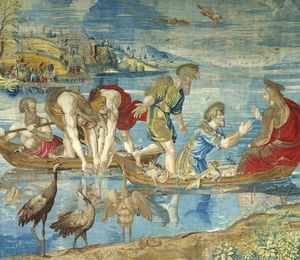 Raphael (Raffaello Sanzio Da Urbino) - The Miraculous Draught of Fishes (cartoon for the Sistine Chapel)