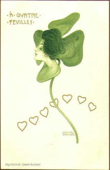 Clovers, 1899 by Raphael Kirchner (1875-1917, Austria)