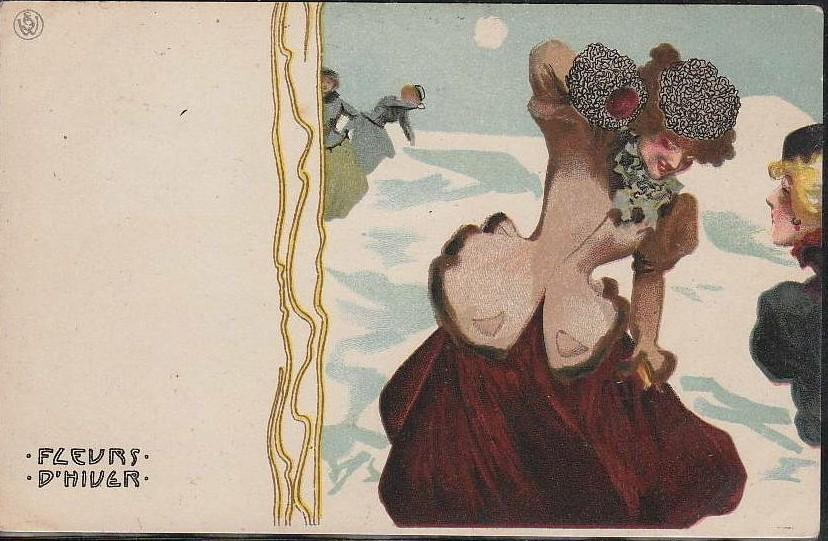 Ice Flowers, 1899 by Raphael Kirchner (1875-1917, Austria)