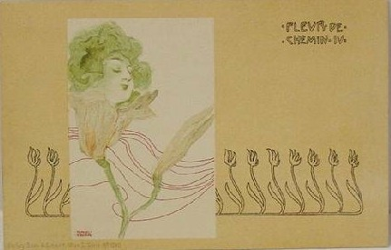 Street Flowers, 1899 by Raphael Kirchner (1875-1917, Austria) | Museum Quality Reproductions | ArtsDot.com