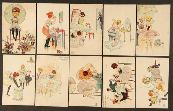 Behind the Scenes, 1900 by Raphael Kirchner (1875-1917, Austria) | Painting Copy | ArtsDot.com
