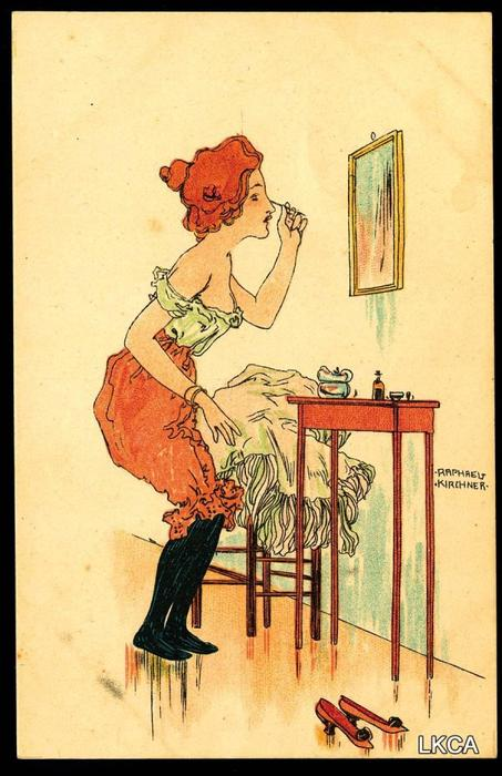 Behind the Scenes, 1900 by Raphael Kirchner (1875-1917, Austria)