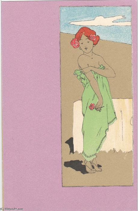 Girls with purple surrounds, 1900 by Raphael Kirchner (1875-1917, Austria)