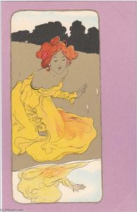Raphael Kirchner - Girls with purple surrounds (9)