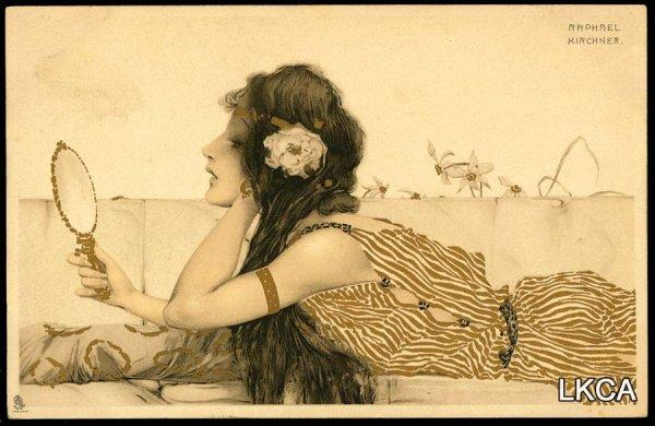 Greek Virgins, 1900 by Raphael Kirchner (1875-1917, Austria)