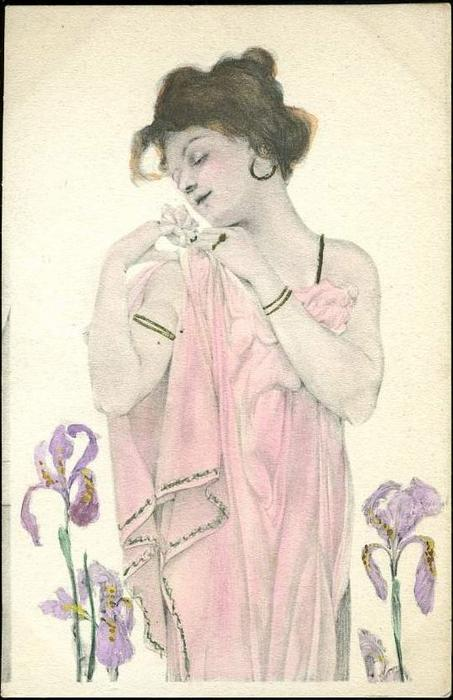 Maid of Athens, 1900 by Raphael Kirchner (1875-1917, Austria)
