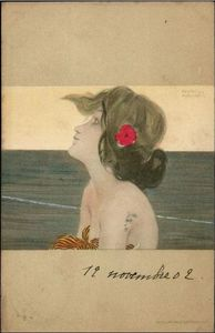 Raphael Kirchner - Girls between brown-green borders