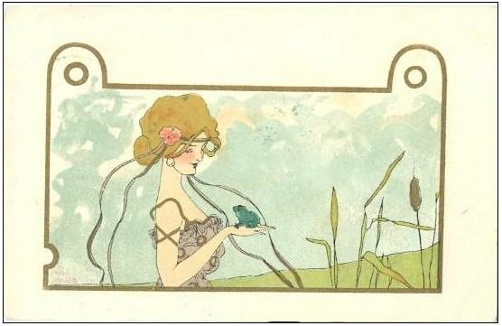 Girls with Animals, 1901 by Raphael Kirchner (1875-1917, Austria) | Art Reproduction | ArtsDot.com