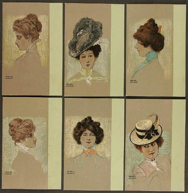 Portraits of Viennese Ladies, 1901 by Raphael Kirchner (1875-1917, Austria)