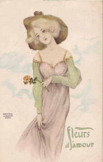 Love Flowers, 1903 by Raphael Kirchner (1875-1917, Austria)