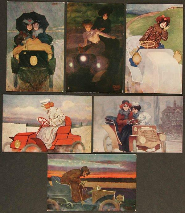 Flashing Motorists, 1904 by Raphael Kirchner (1875-1917, Austria)